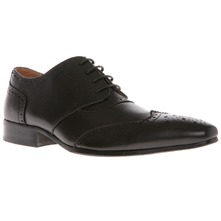 Men footwear: Black Leather Brogues