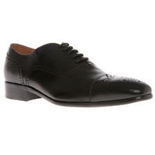 Men footwear: Black Leather Lace Brogues