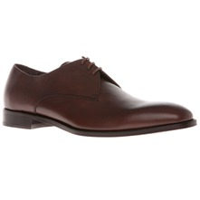 Men footwear: Brown Leather Stitch Shoes
