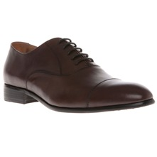 Men footwear: Brown Leather Classic Lace-up Shoes