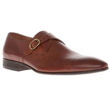 Men footwear: Leather Classic Monk Shoes