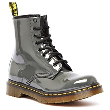 Boots Doris en cuir gris