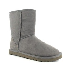 Boots Classic Short en cuir gris
