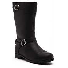 Bottes Gershwin en cuir noir