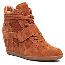 Baskets Bowie en cuir camel