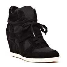 Baskets Bowie Bis en cuir noir
