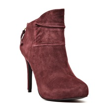 Low boots Candy en cuir prune