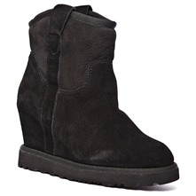 Boots Yahoo en cuir noir