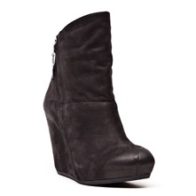 Boots Heidi en cuir noir