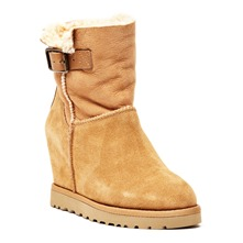 Boots Youri en cuir camel