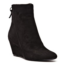 Boots Illico en cuir noir