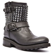 Bikers Titan en cuir noir