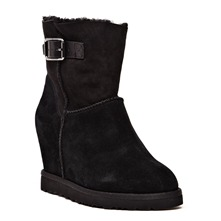 Boots Youri en cuir noir