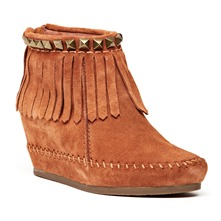 Boots Squaw en cuir camel