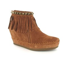 Boots Squaw en cuir or