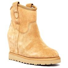 Boots Yahoo en cuir camel
