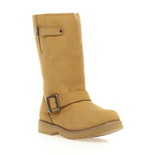 Bottes fourres en cuir sud camel