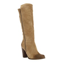 Bottes en cuir sud sable  talon