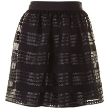 Black Sequined Keeley Skirt