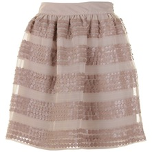 Taupe Sequined Keeley Skirt