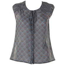 Blue Patterned Tamara Top