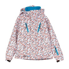 Veste de ski  capuche imprim multicolore
