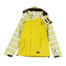 Veste de ski jaune  capuche