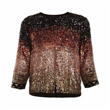 Veste à sequins multicolore