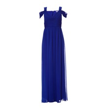 Robe longue cobalt