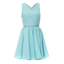Robe brode aqua