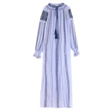 Robe longue August bleu
