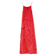 Robe longue Eden rouge