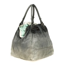 Sac cabas The scene en cuir gris dlav