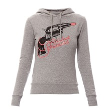 Sweat  capuche Fevolver gris chin