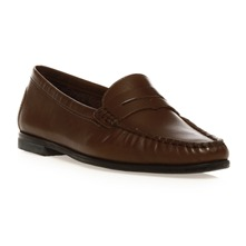 Mocassins en cuir marron