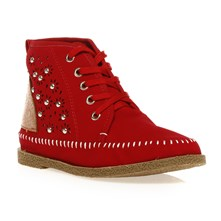 Chaussures montantes perfores rouges