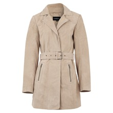Trench Shane en cuir sable
