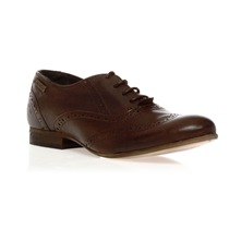 Derbies en cuir marron