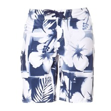 Boardshort Chewlips blanc et bleu
