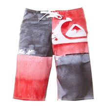 Boardshort New Harbor gris et rouge