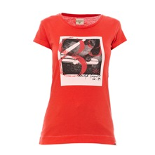 T-shirt Orange County rouge