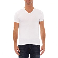Vneck - Set van 2 T-shirts - wit