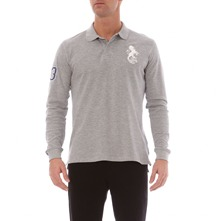 Polo  manches longues gris chin