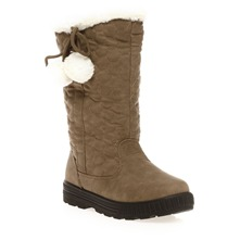 Bottes fourres taupe