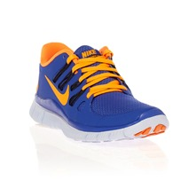 Baskets nike free 5.0+ bleu et orange
