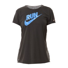 T-shirt C-NK SS Run Swoosh anthracite