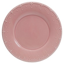 Lot de 6 assiettes plates Constance Rose