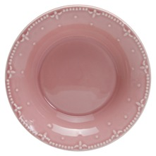 Lot de 6 assiettes creuses Constance Rose