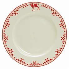 Lot de 6 assiettes plate Collection Collor Country Ecru