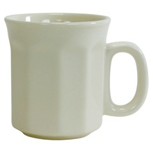 Lot de 6 mugs à côtes Terroir Country Ecru